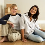 Female Friends Moving Into New Home